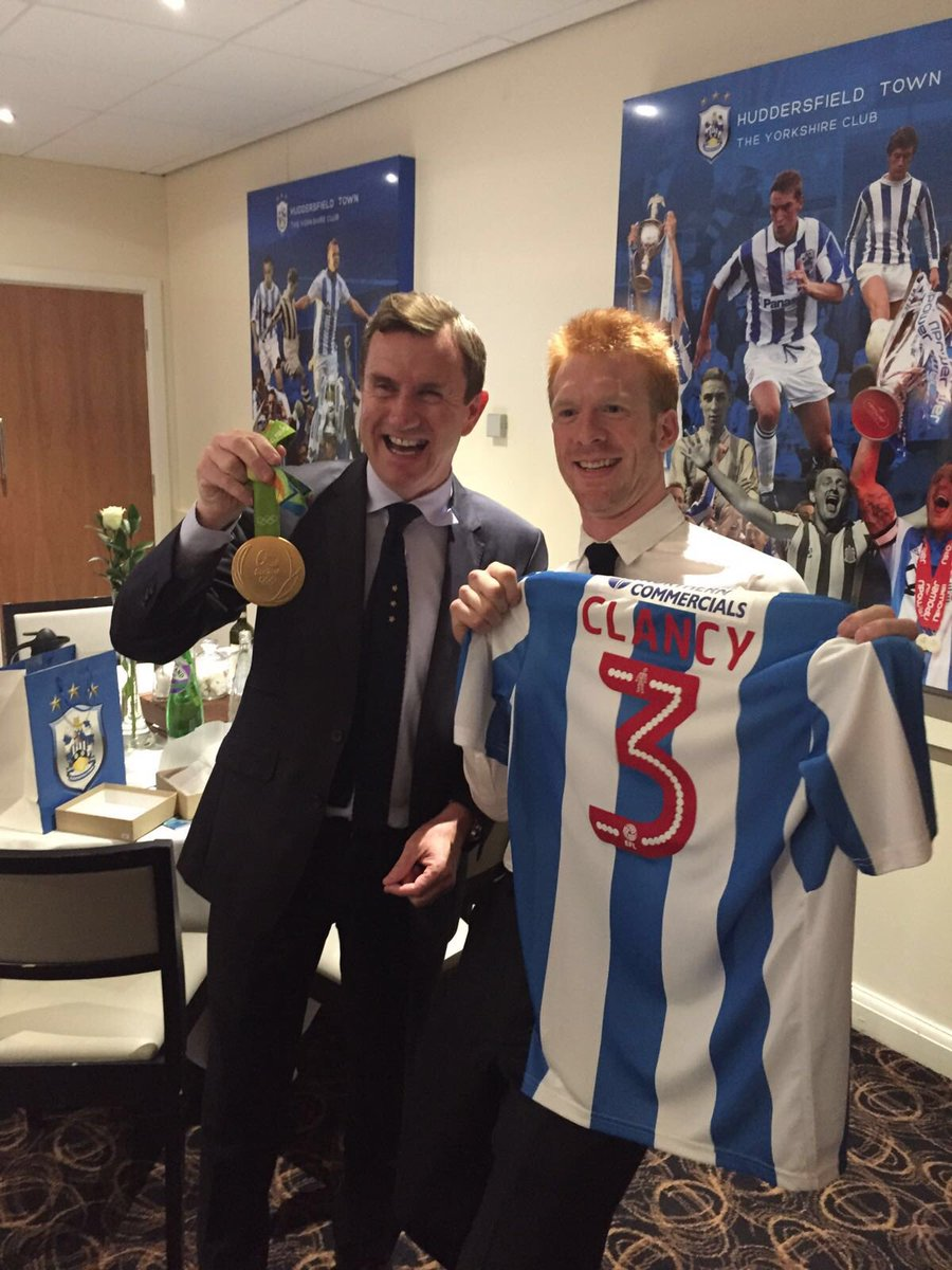 @htafcdotcom  with the main man Dean Hoyle. Thanks for the shirt!