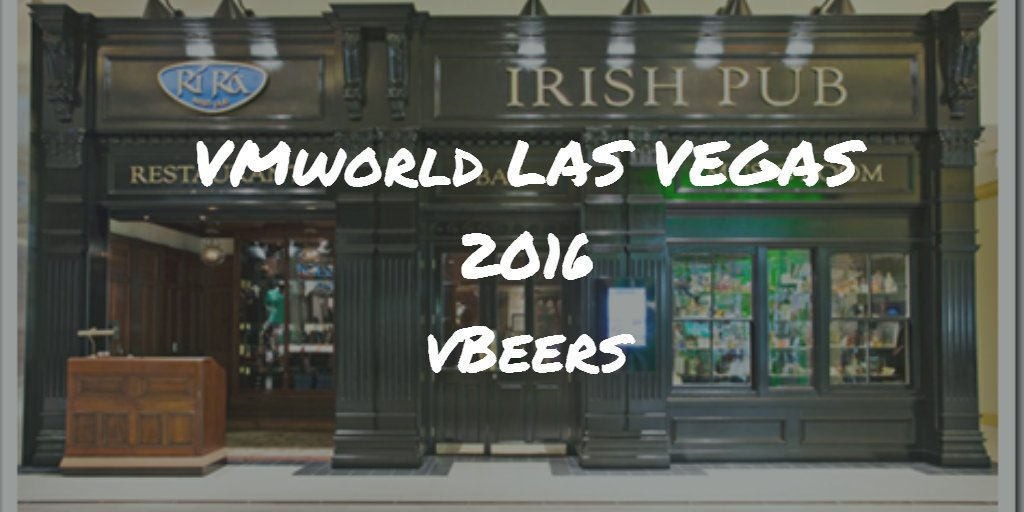 In town ahead of #VMworld tonight? Why not head to vBeers #VMworld  https://t.co/umQfge8XDe  #VMware https://t.co/tykMuogYT7