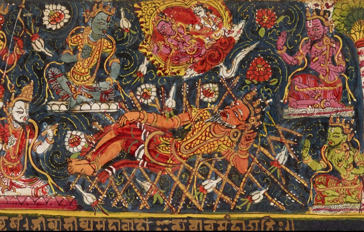 Jamal Jafri On Twitter Bhishma Pitamah On His Deathbed Of Arrows Kalapustaka Ms Nepal Circa 1600 Https T Co R30fezj8od Mahabharata