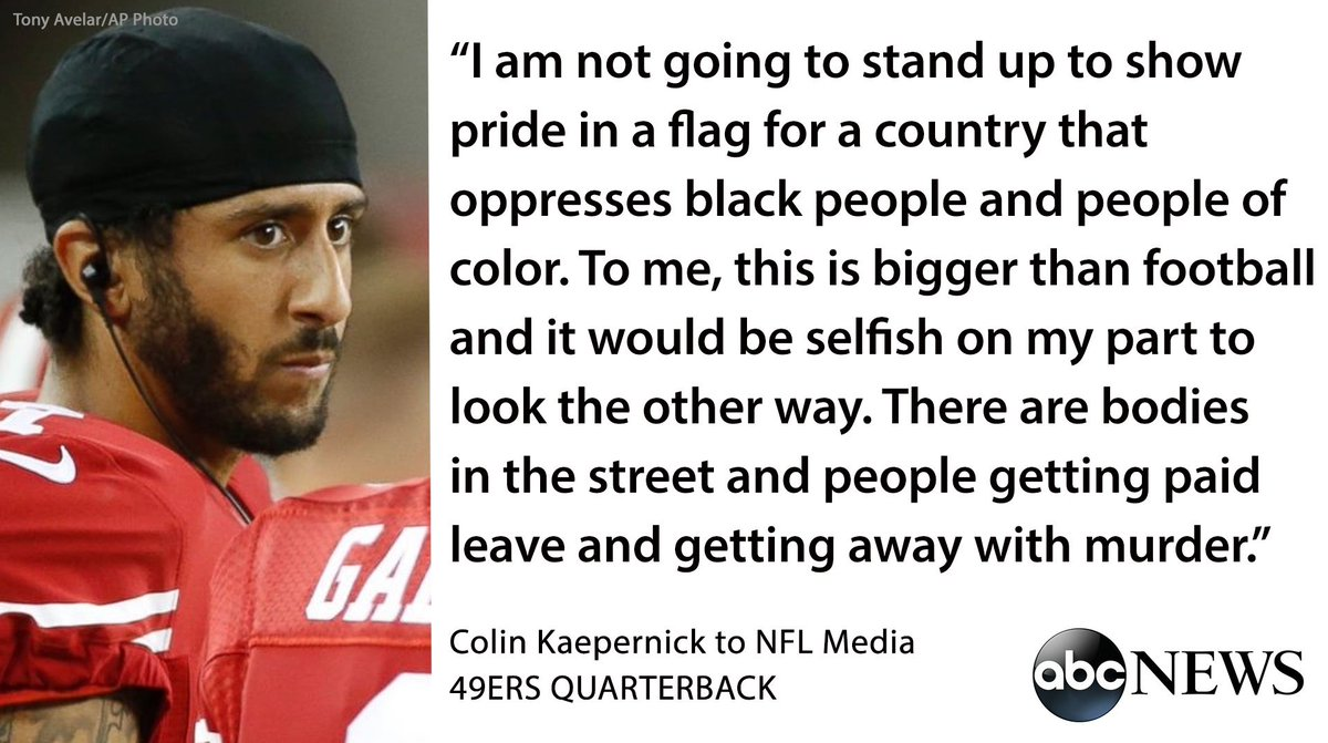 49ers QB Colin Kaepernick protests National Anthem over treatment of minorities