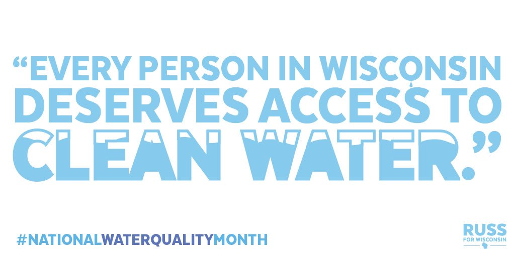 We must keep fighting for thousands who don't have access to safe drinking water in WI. #NationalWaterQualityMonth https://t.co/YbYNQEmvR0