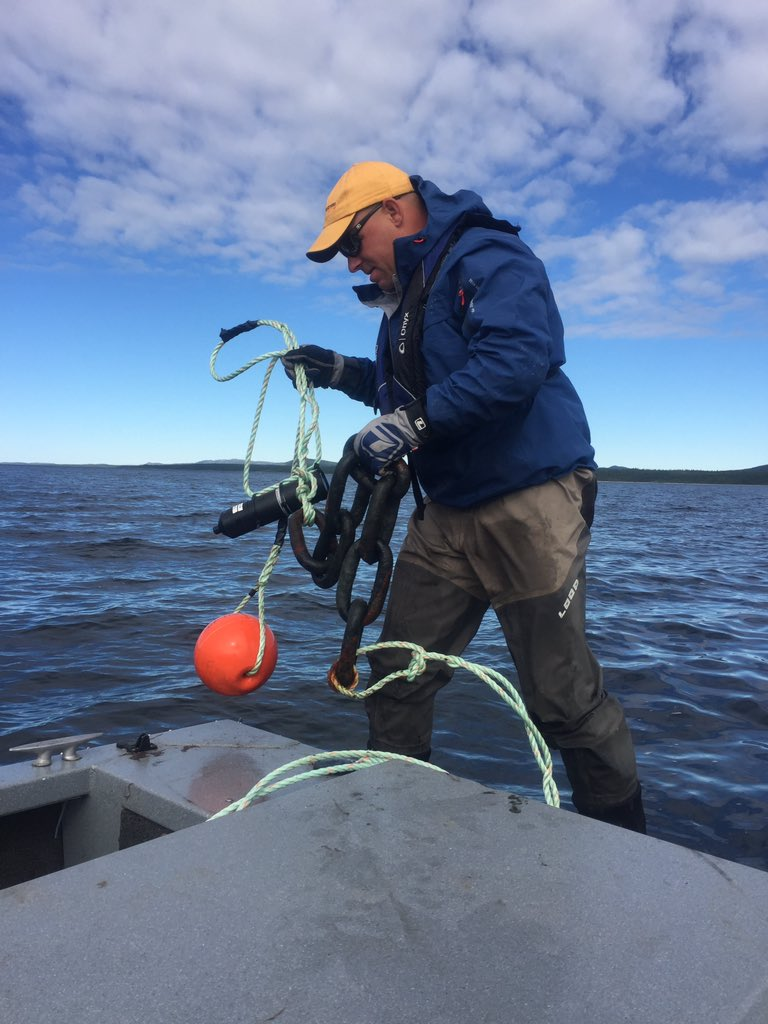 Atlantic Salmon Research continues on Hunt River Labrador retrieving acoustic receivers @vemcoteam @LOOP_Tackle https://t.co/gAze6OFSn7