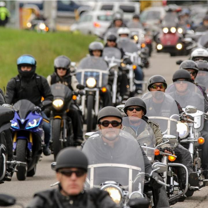 150 Motorcyclists hit the road for a fundraiser about the dangers of addiction.