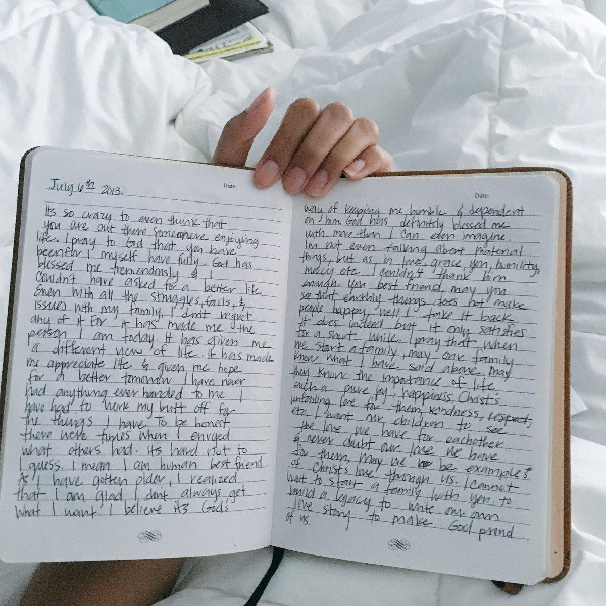 S. on Twitter: Kept a journal for my future husband full