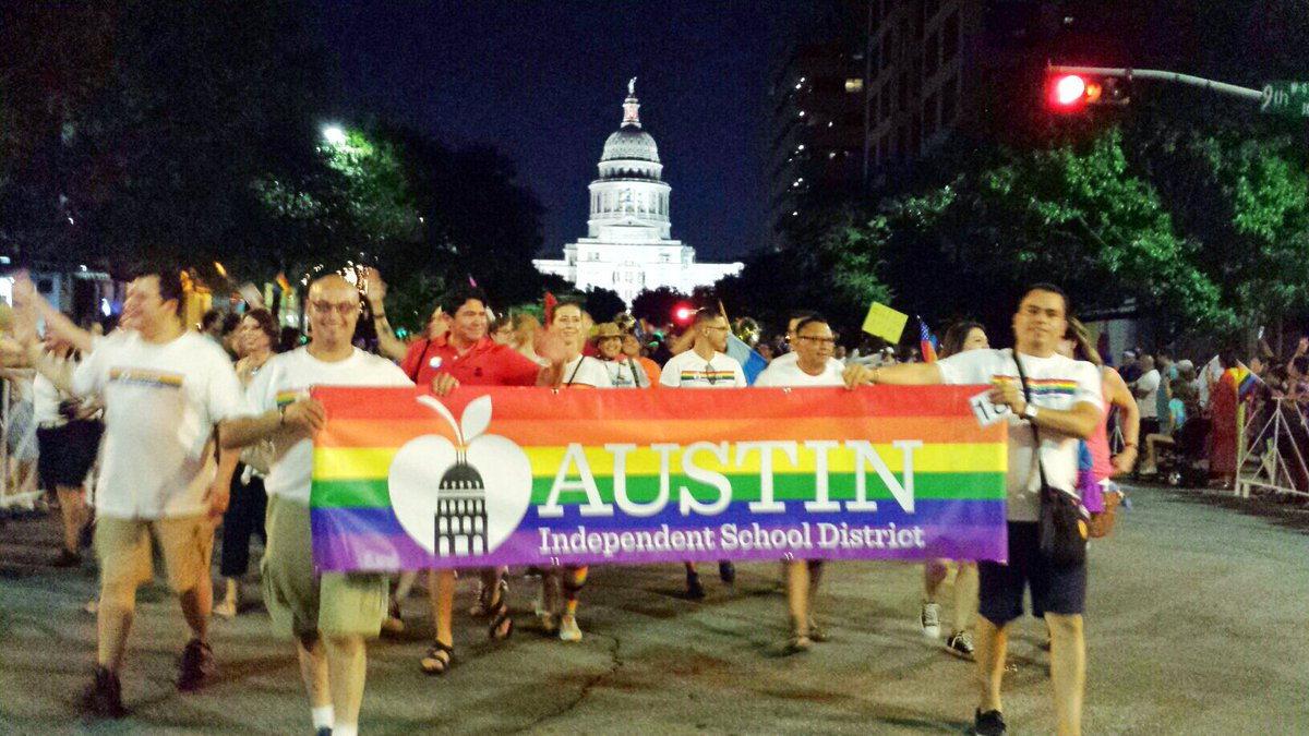 AISDProud of team @ AustinPride!We r dedicated to creating safe, supportive environment for LGBT students & staff.