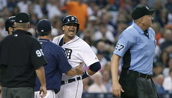 FINAL: Angels 3, Tigers 2. Multiple ejections for Detroit as win streak ends.