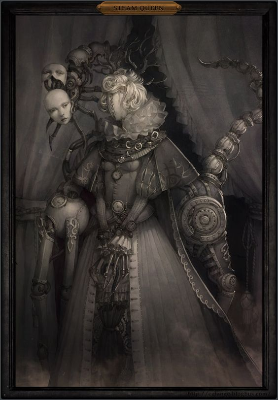 #steampunk #art Steamqueen by ~cglange on deviantART