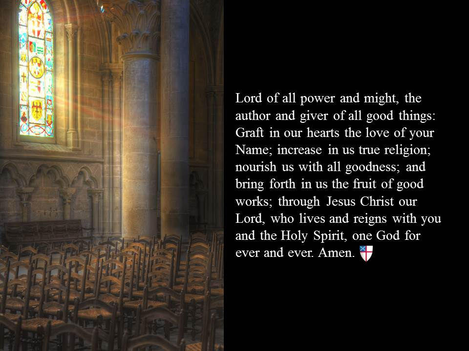 The Episcopal Church On Twitter Lord Of All Power And Might Author Giver Good Things Graft In Our Hearts Love Your Name