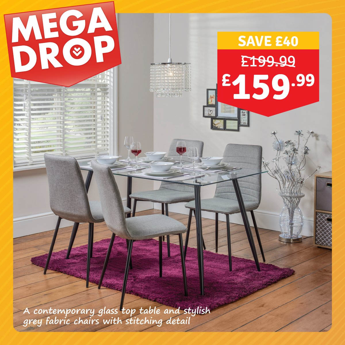 the range on twitter mega drop deal gerona glass table 4
