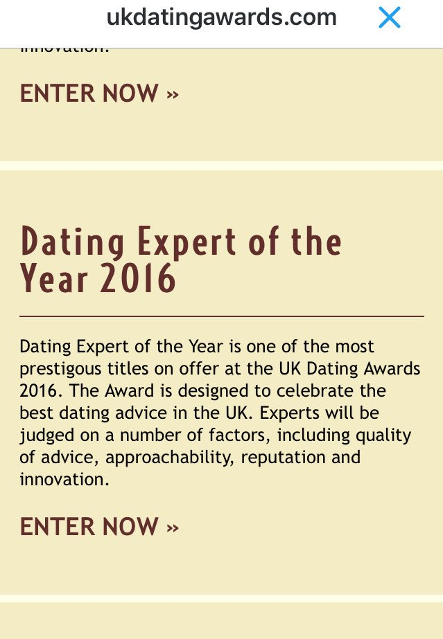 Uk dating awards twitter