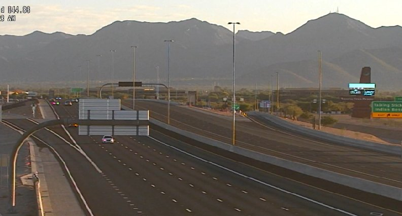 WEEKEND CLOSURE: L-101 (Pima) NB from McDonald Dr. to 90th St. for rubberized asphalt paving until 5 am Monday.