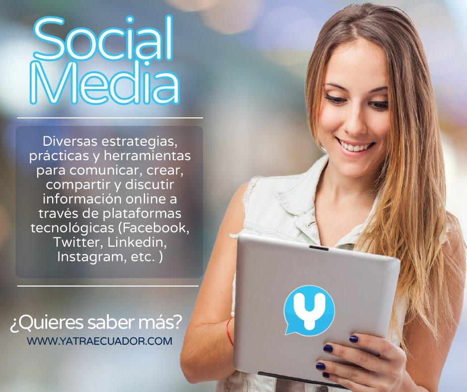 ¿Qué es el Social Media? #SocialMediaMarketing #YatraEcuador https://t.co/Pf6bHp9sWr