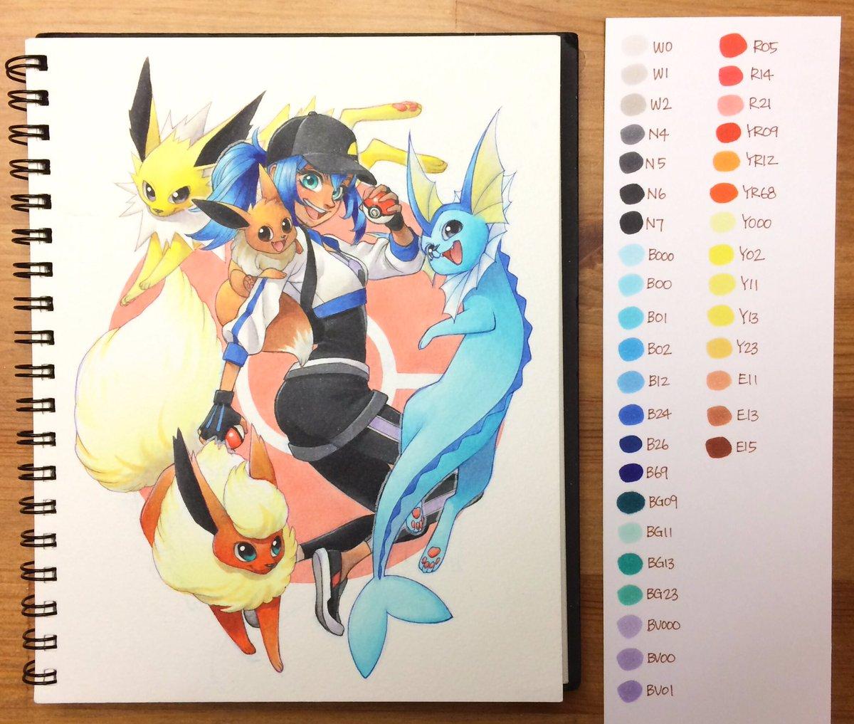 """chihiro howe on twitter: """"pokemon :) #コピック #ポケモン #ポケモン"""