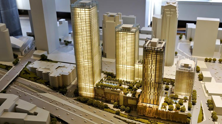 They built towering new cities in China. Now they're trying in downtown L.A.