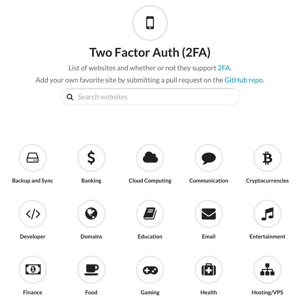 List of websites and whether or not they support 2FA. https://t.co/4g0krSOT1N https://t.co/gnWF2DAhWn