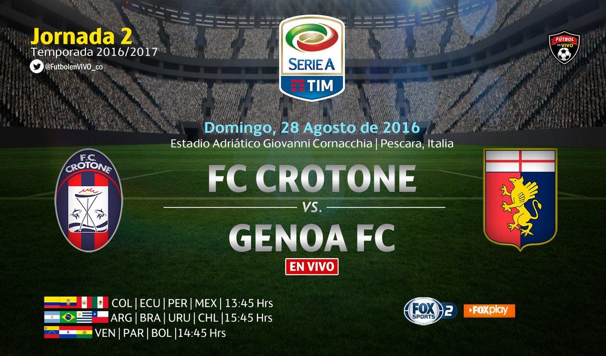 Crotone Genoa streaming Serie A sul campo neutro di Pescara