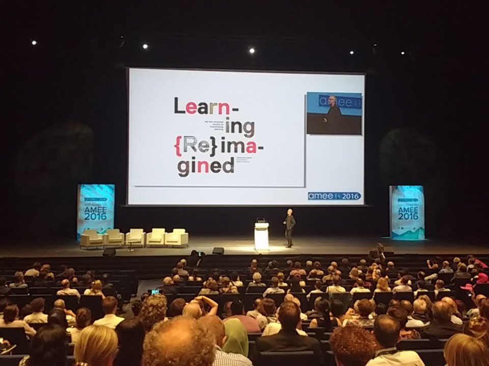 Graham Brown-Martin now on stage #amee2016 plenary https://t.co/WCa0GW4Led