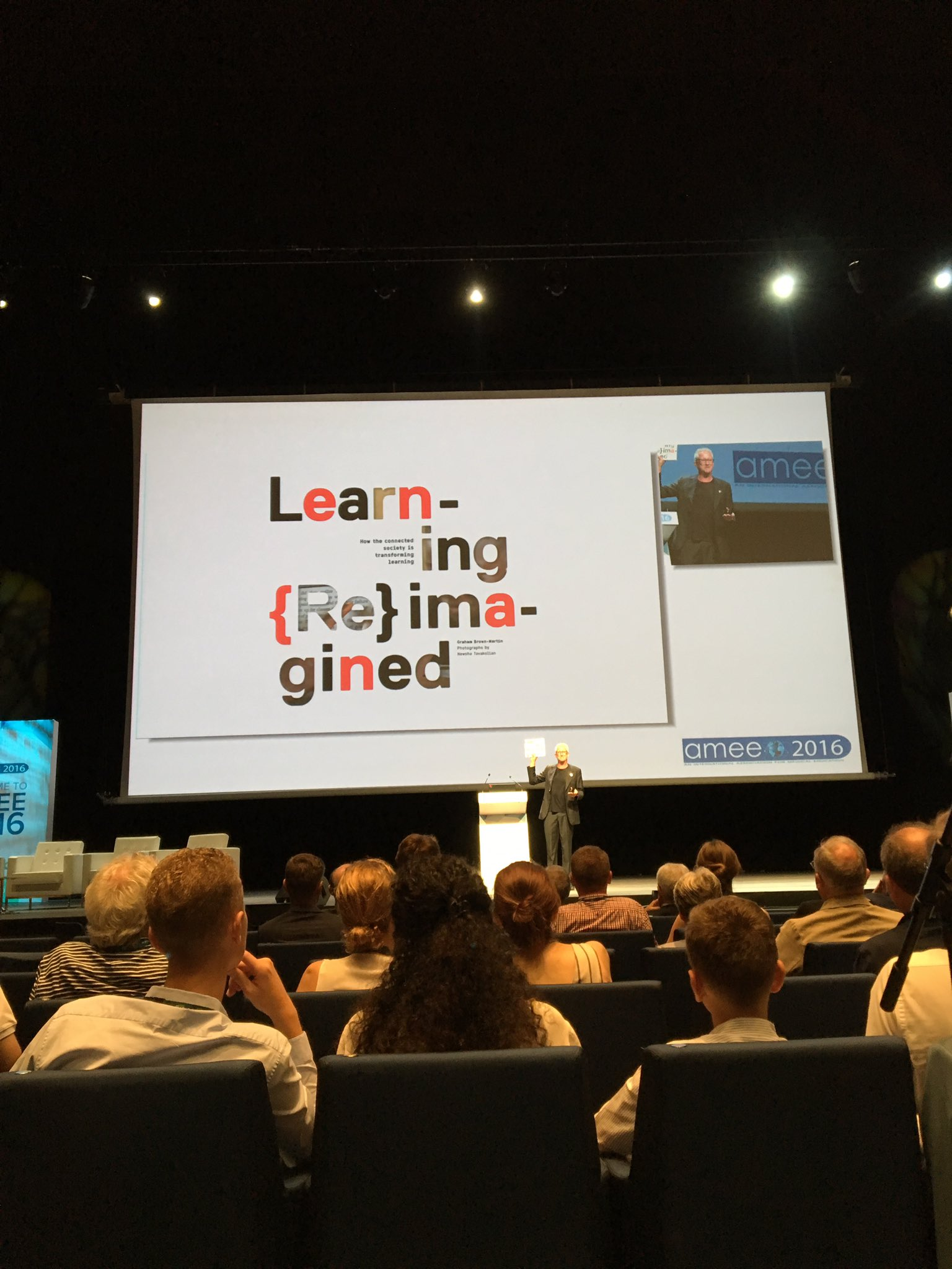 About to hear from @GrahamBM , looking forward to this #AMEE2016 https://t.co/JfudMAuLje