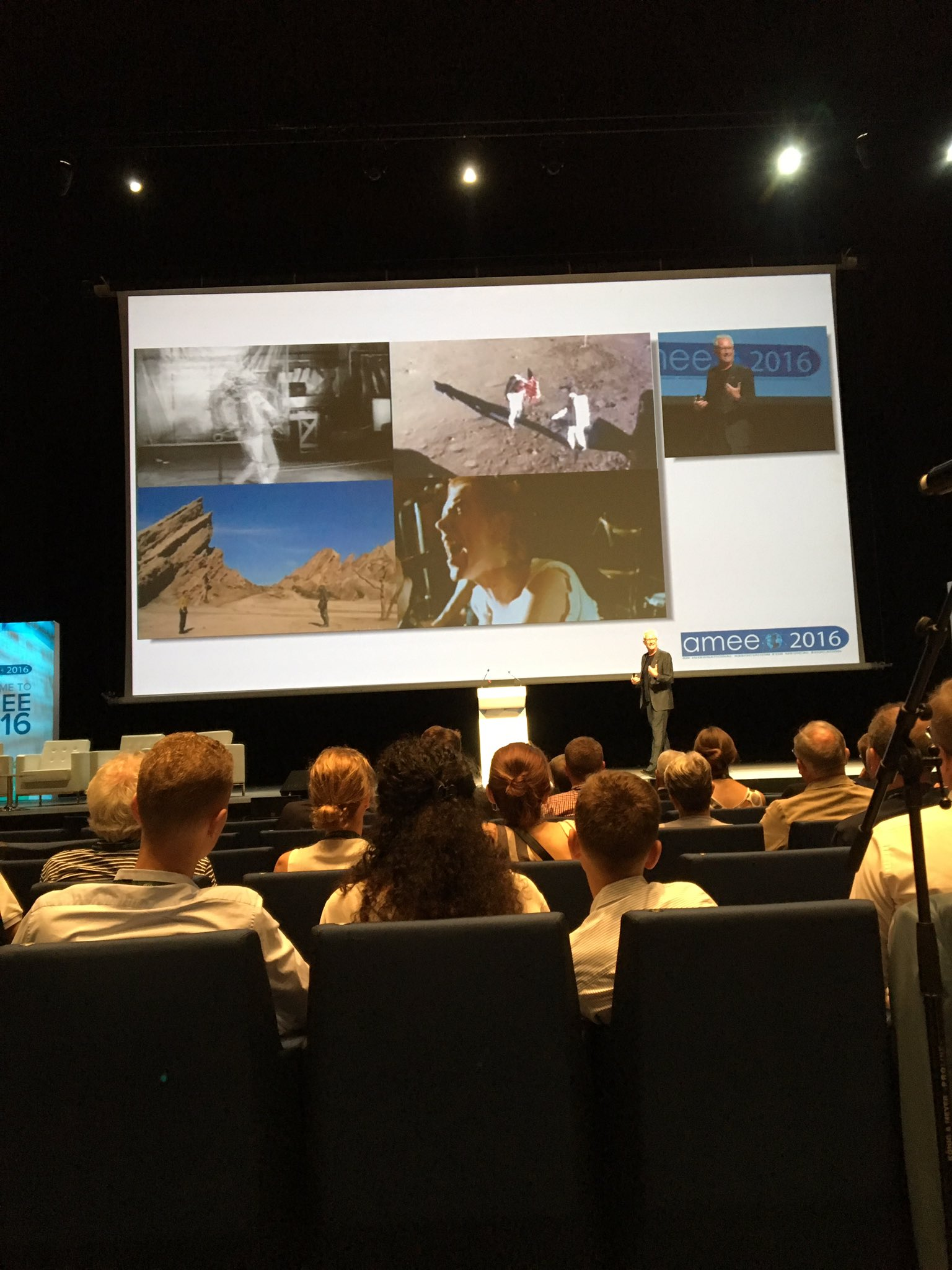 . @GrahamBM - Inspiration includes sci-fi, Apollo and punk. Good chops. #AMEE2016 https://t.co/3GBNQpCeH3
