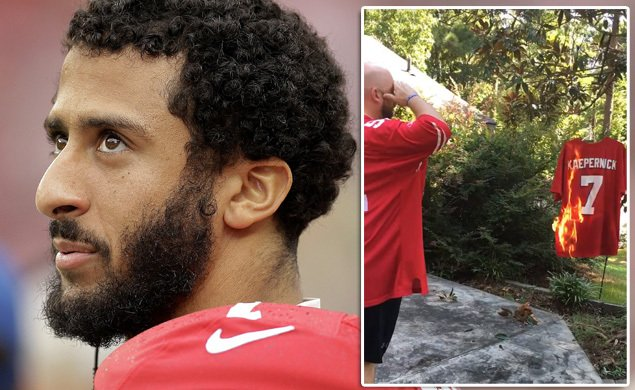 VIDEO—Angry 49ers fan burns Kaepernick shirt after QB's refusal to stand for national anthem
