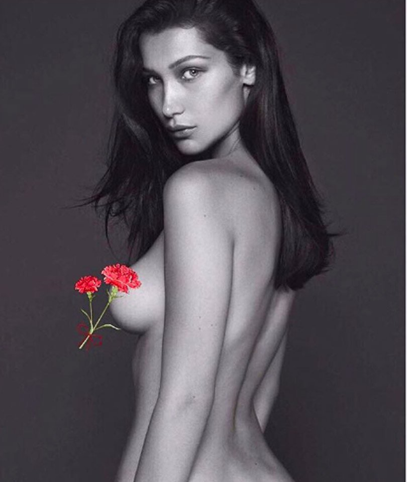e7b6cd4d8a0d Bella hadid goes completely naked for french vogue! - scoopnest.com