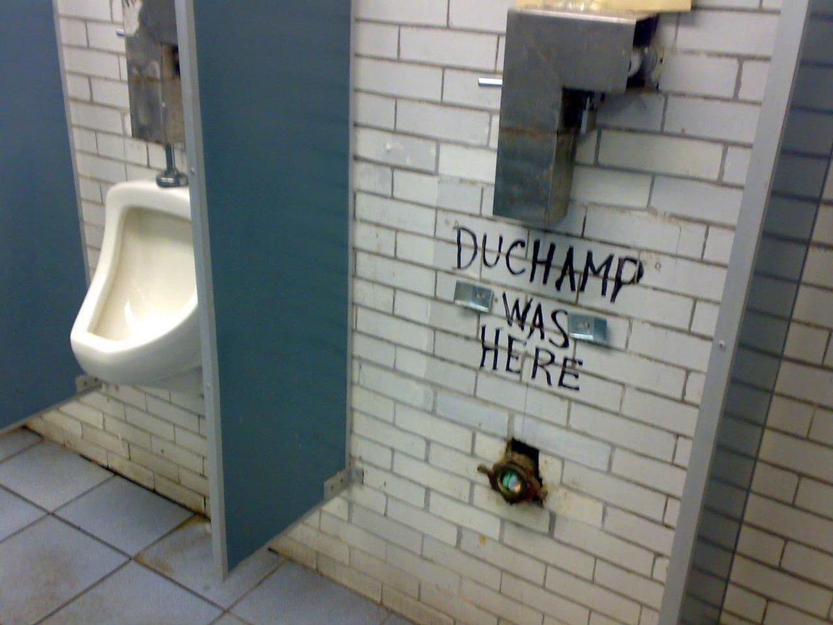 We couldn't resist some art history humor on #NationalTellAJokeDay, thanks @DesignCrack! #duchamp