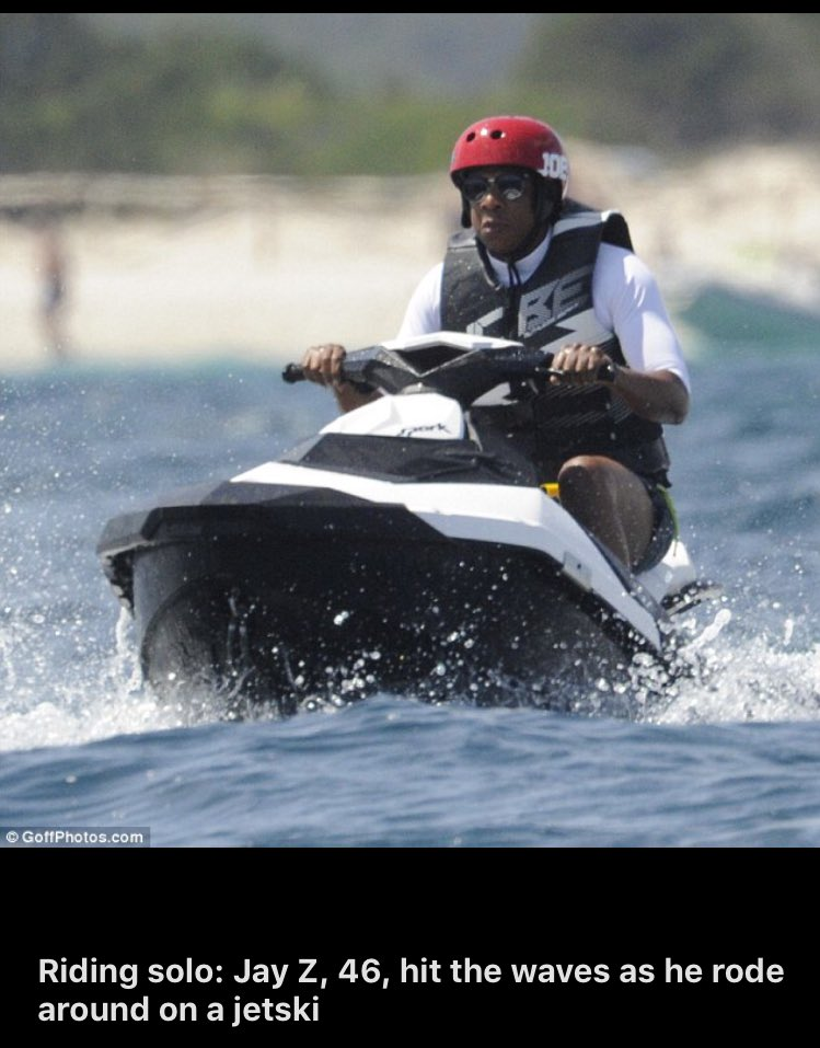 Anyone else think Jay Z was really cool UNTIL you saw him on a jet ski? https://t.co/jUKvp9Lq5g