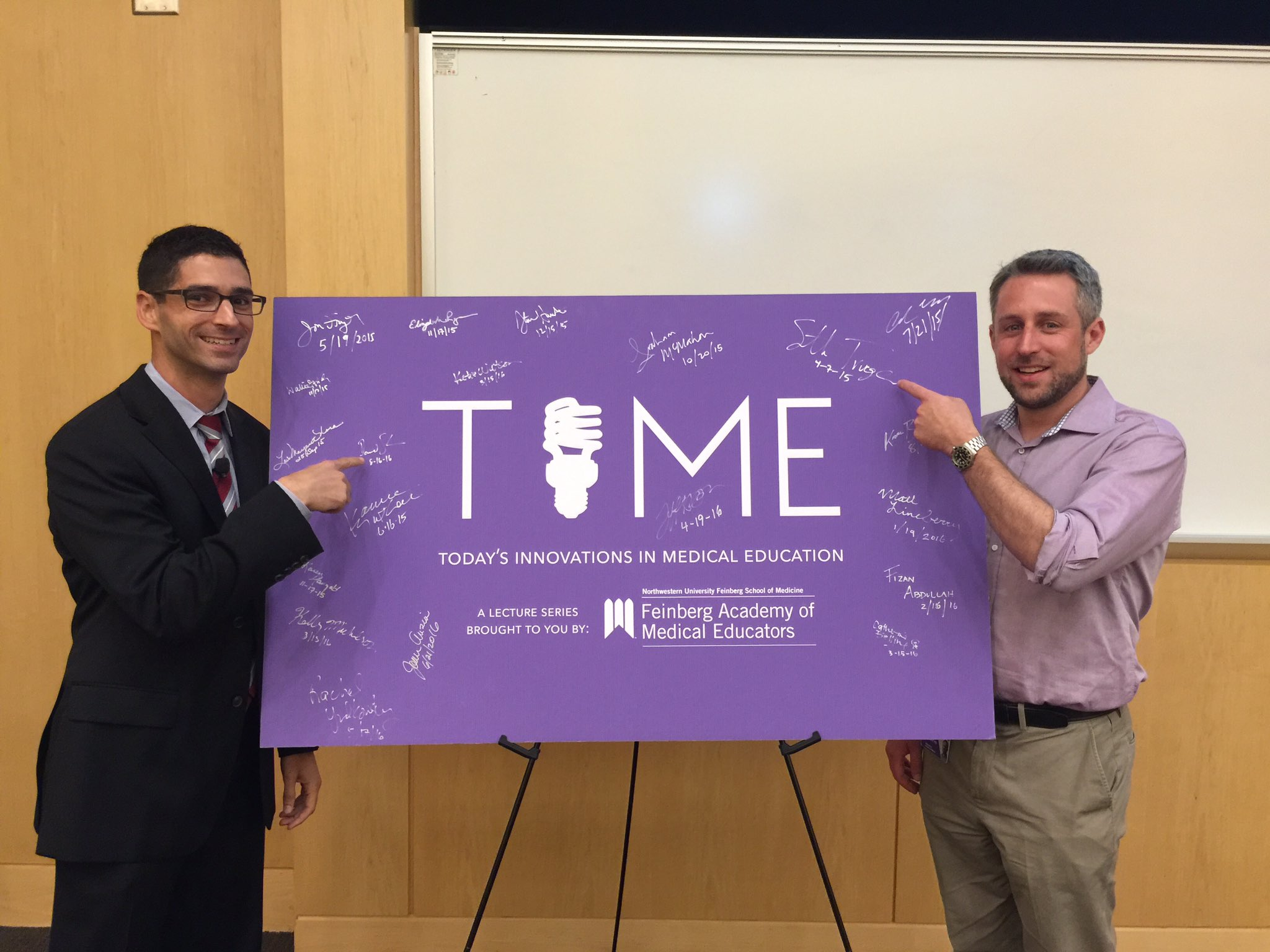 Our Department is proud to now have two faculty who have lectured in the @NU_FAME TIME series, @dhsalz13 & @MDaware! https://t.co/fD9TINzEok