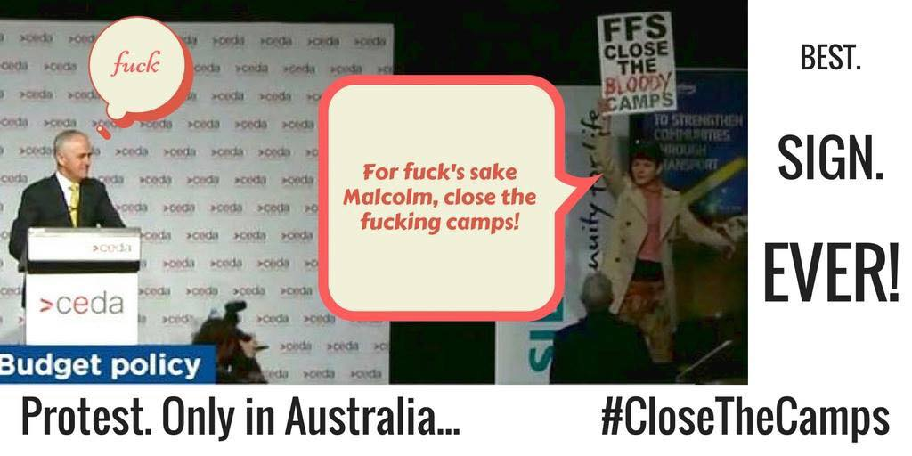 protest, straya style. <3 @akaWACA #ffsclosethebloodycamps #bringthemhere #closethecamps https://t.co/GPgNpjstwc