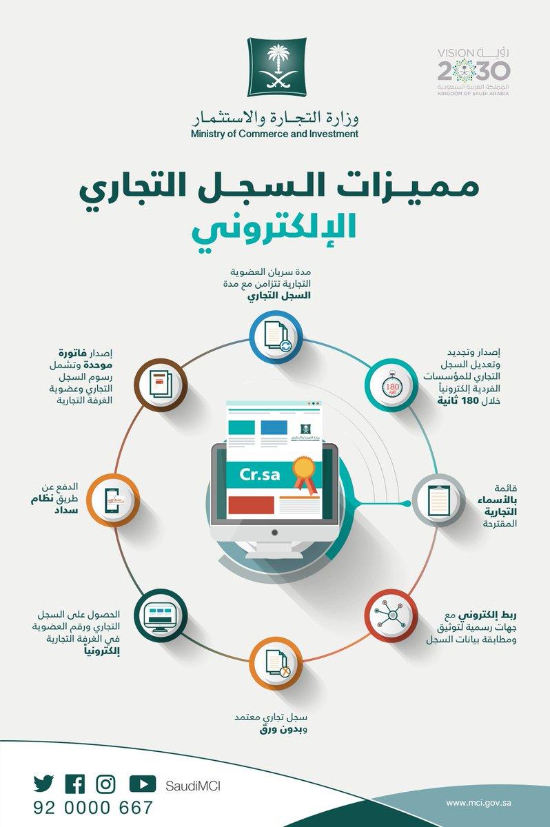 وزارة التجارة On Twitter 8 مميزات للسجل التجاري الإلكتروني تعرف عليها واصدر سجلك خلال 180ثانية