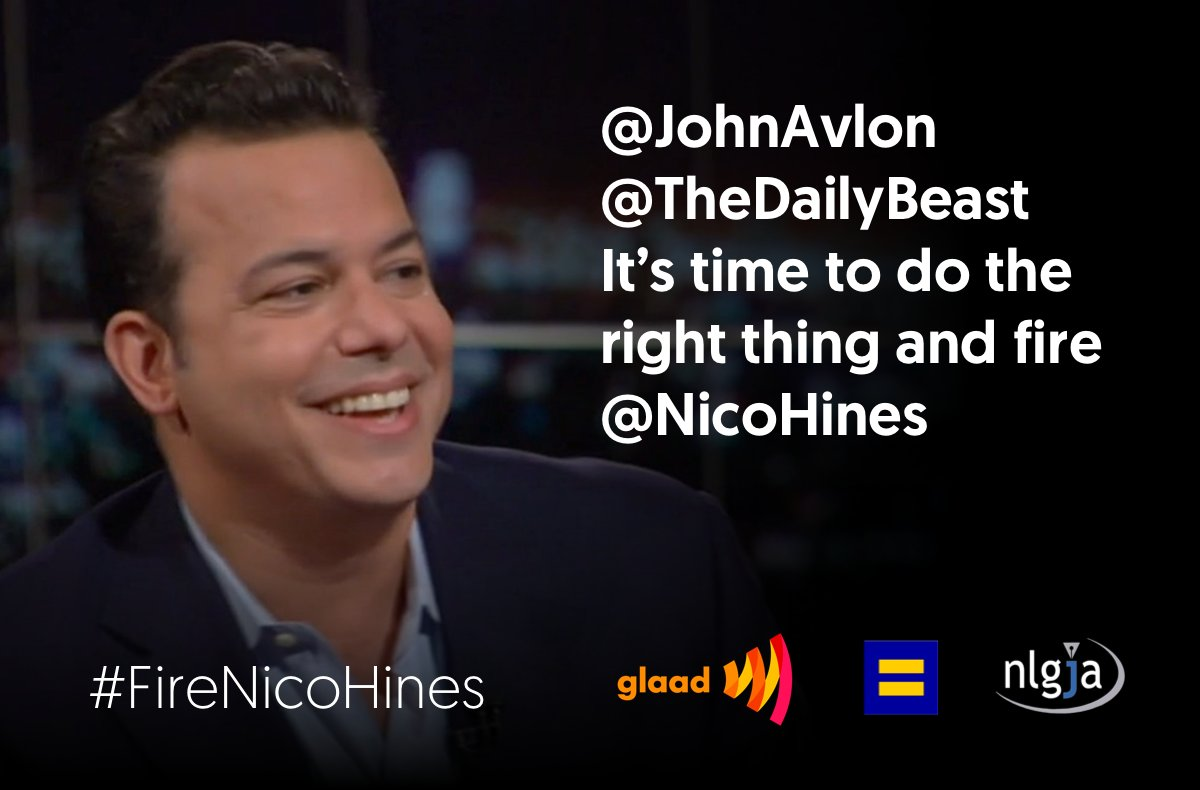 Nothing but continued silence from @NicoHines @JohnAvlon and @thedailybeast step up the pressure #firenicohines https://t.co/C2X5auUpnQ