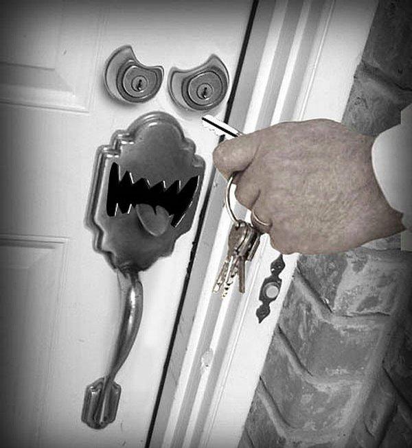 Смешные картинки на дверь, новым