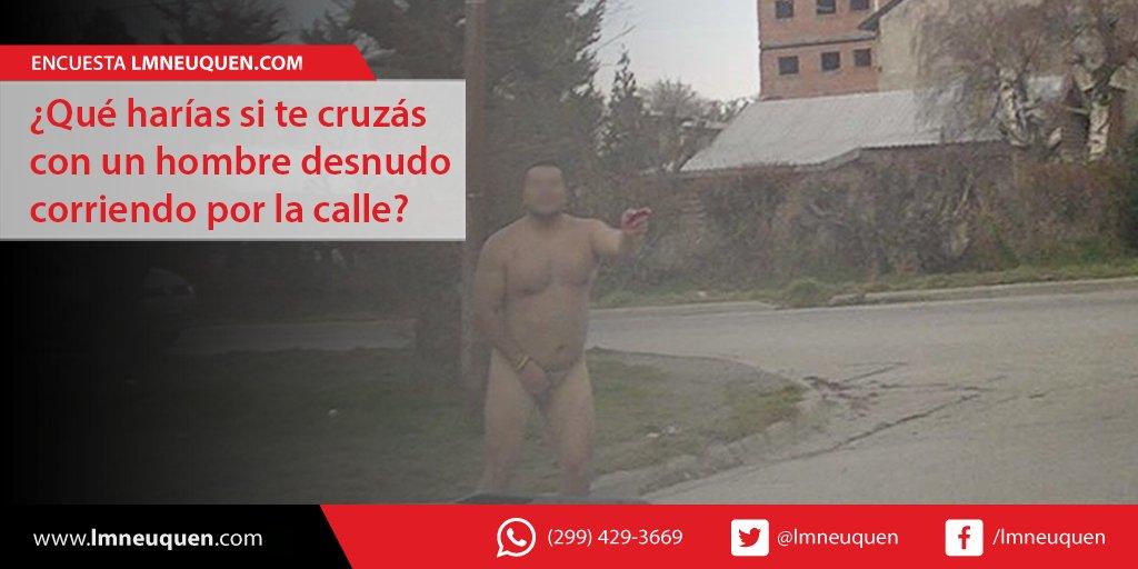 Video: rescatan a un hombre desnudo que qued atrapado