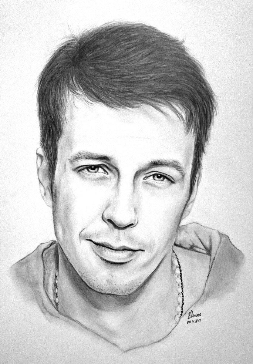 Elvina on twitter russian actor denis vasiliev portrait art artwork pencil drawing sketch artist https t co aabhlayizu