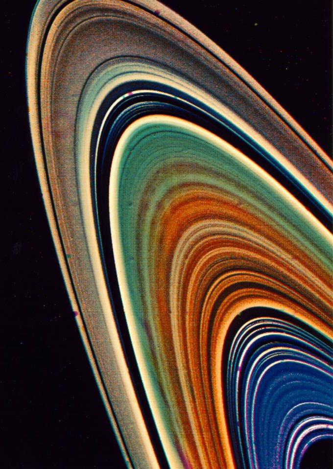 #35YearsAgoToday: The rings of Saturn, observed by the Voyager 2 #space probe on August 17, 1981.
