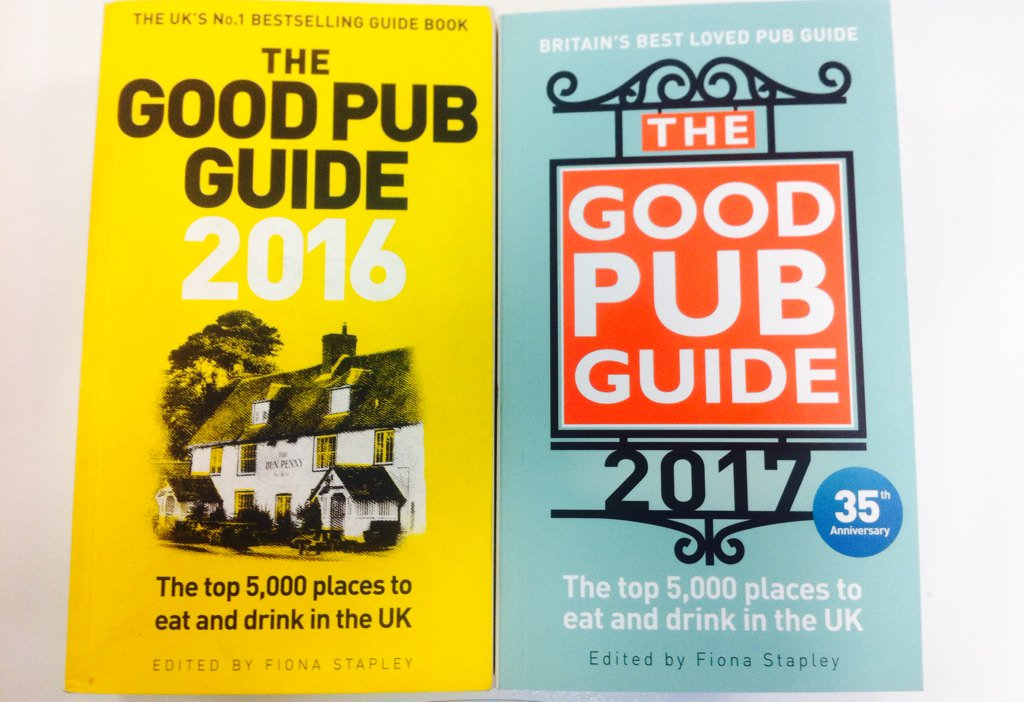 The collection is growing! #GoodPubGuide2017 published 8th September