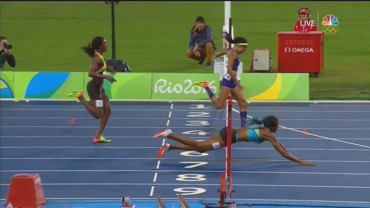 bc16d6ab6 the olympic dive by shaune miller cost american sprinter allyson felix a  gold medal