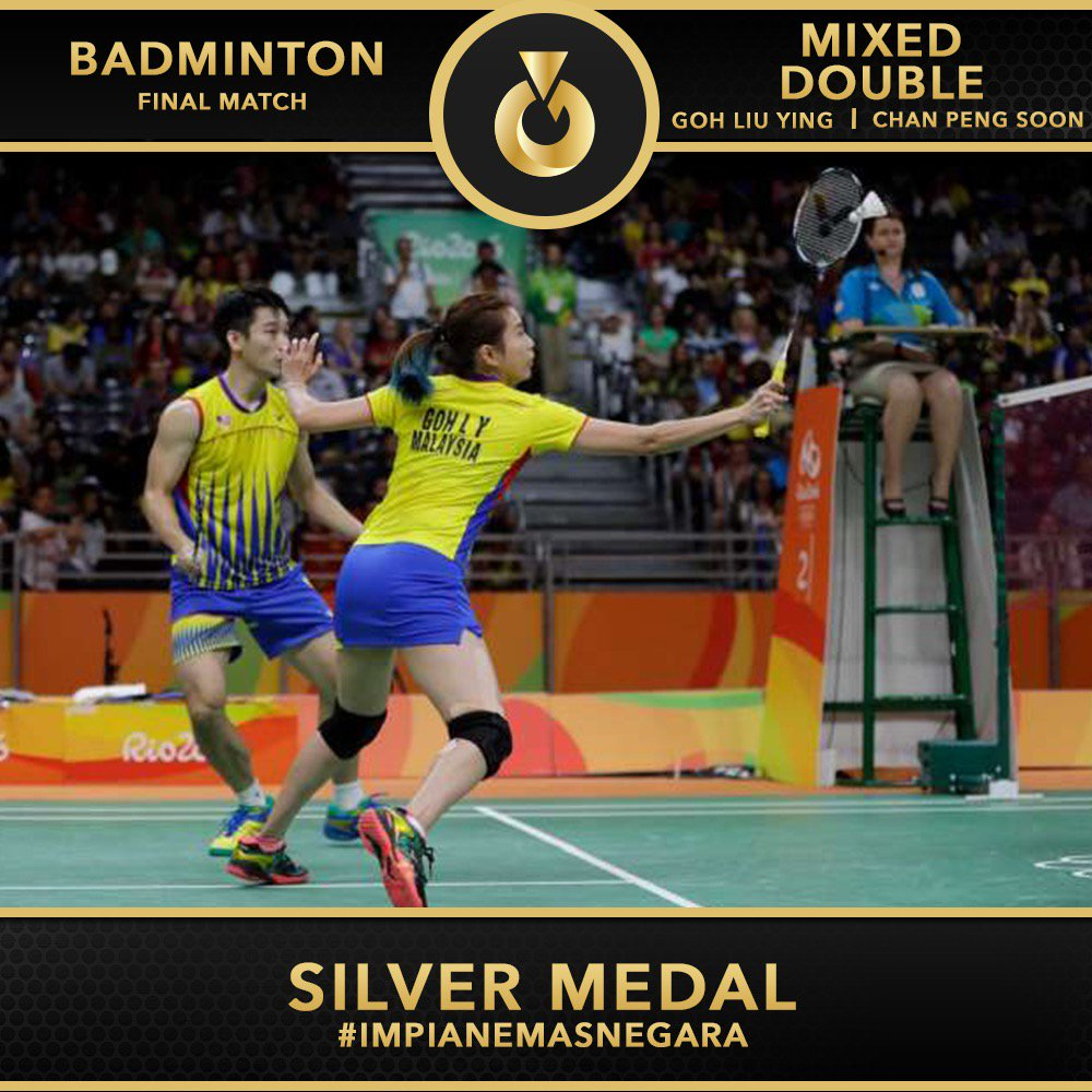Congratulations to Malaysia's badminton mixed doubles pair, Chan Peng Soon-Goh Liu Ying for bringing home the silver https://t.co/DT5RZNnOkW