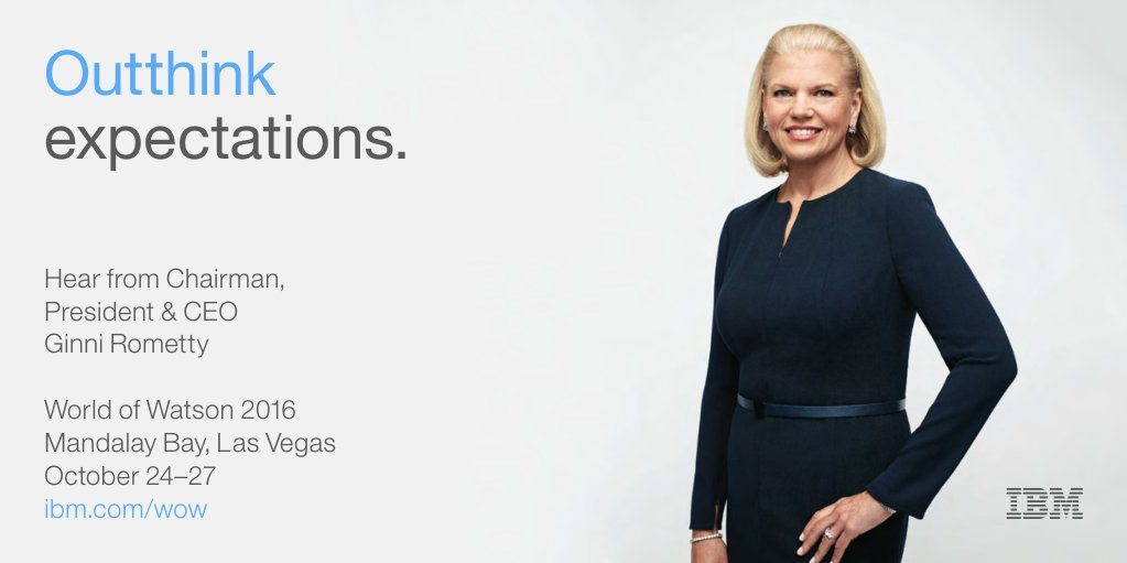 """This era will redefine the relationship between man & machine."" Don't miss Chairman & CEO Ginni Rometty at #ibmwow! https://t.co/v3uhwsjaus"