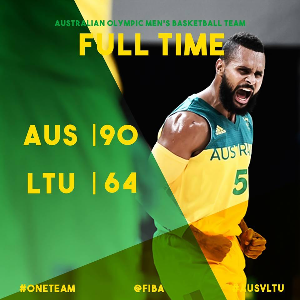#ONETEAM | #AUS WINS! BRING ON THE SEMI-FINALS!  Full box score: https://t.co/JA8bH18FBS