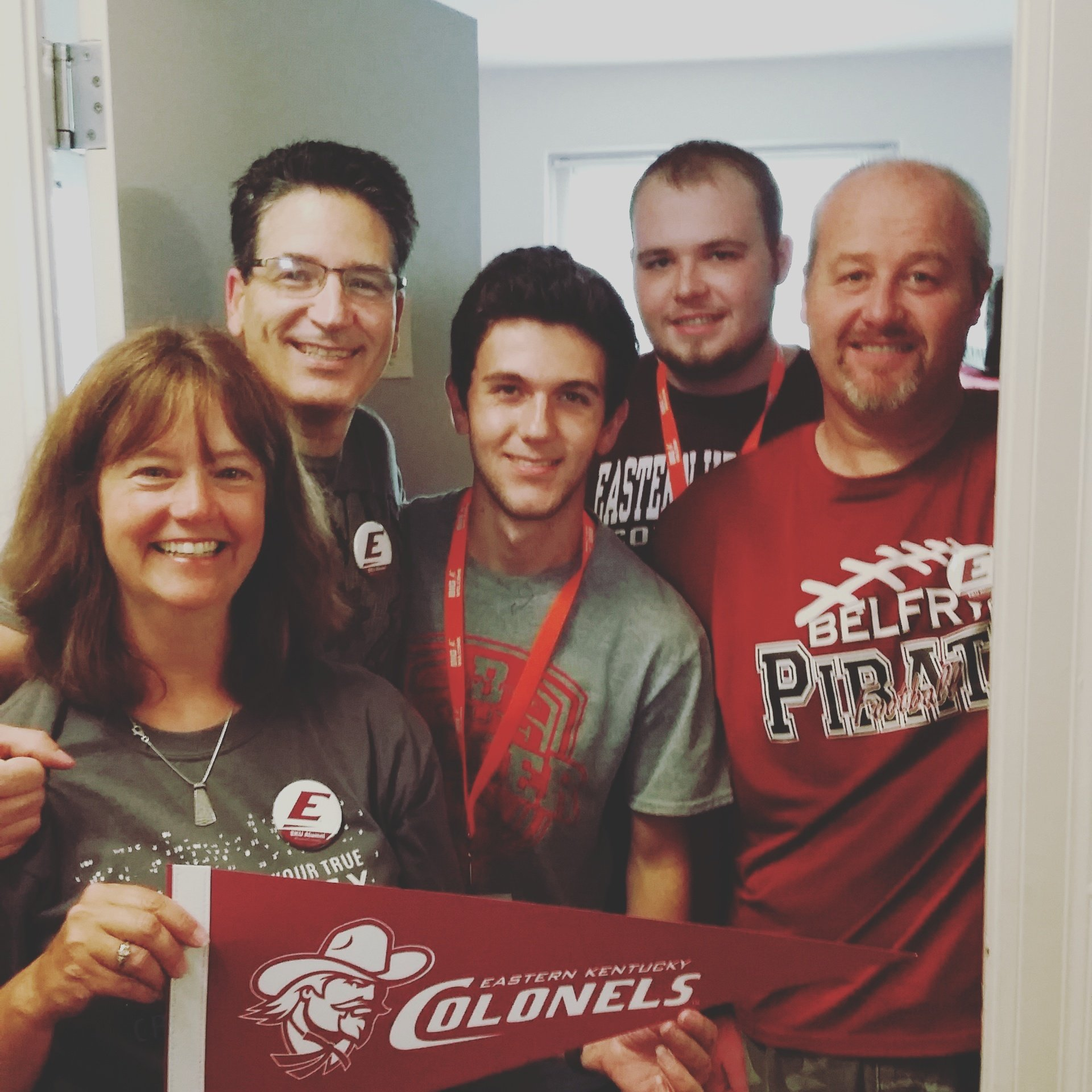 Welcoming #EKU20 legacy students Matt & Matt w/ #ForeverColonels parents. Welcome to the #ColonelNation #BigEwelcome https://t.co/XTbCMCVLC5