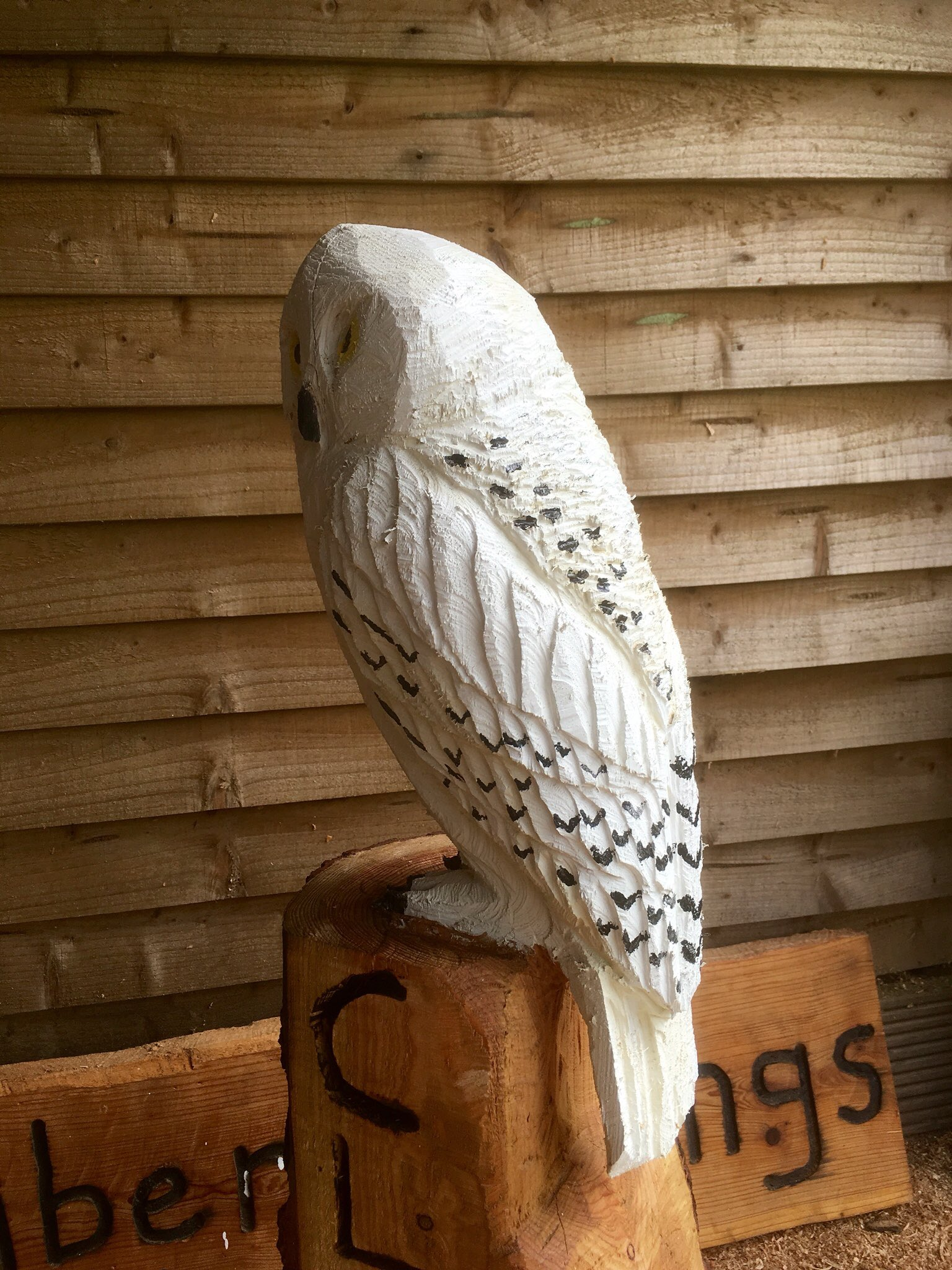 James on twitter quot hedwig chainsaw carving snowy owl