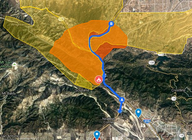 Cal Oes On Twitter Map Interactive Bluecut Fire Map Via