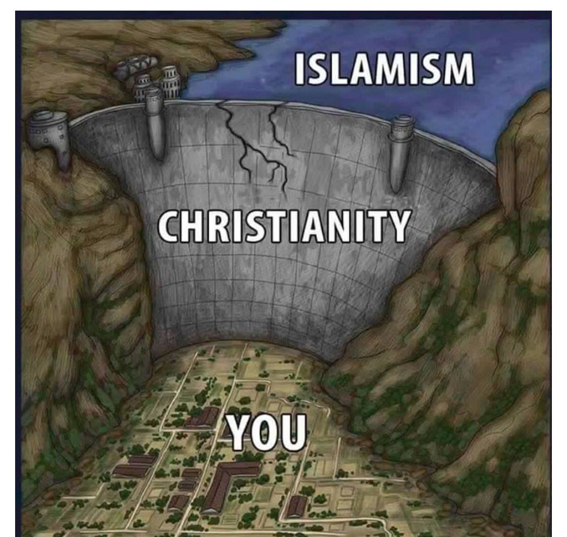 Image result for islam christianity dam