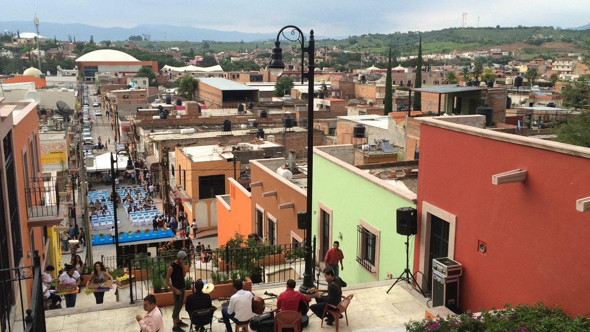 La calle de Las Gorditas en Calvillo, Aguascalientes