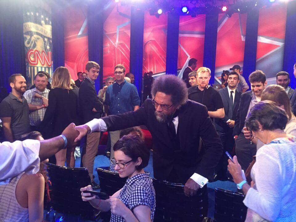 .@CornelWest is in the house for tonight's CNN #GreenTownHall with @DrJillStein at 9pm! https://t.co/eKO8Bchu6D