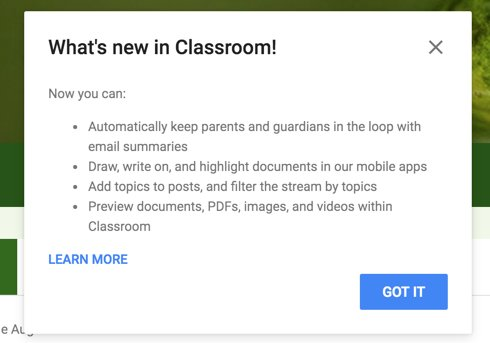 Google Classroom added two more features today. Can now add topics to posts and filter by them and document preview https://t.co/HUfhpSYa88