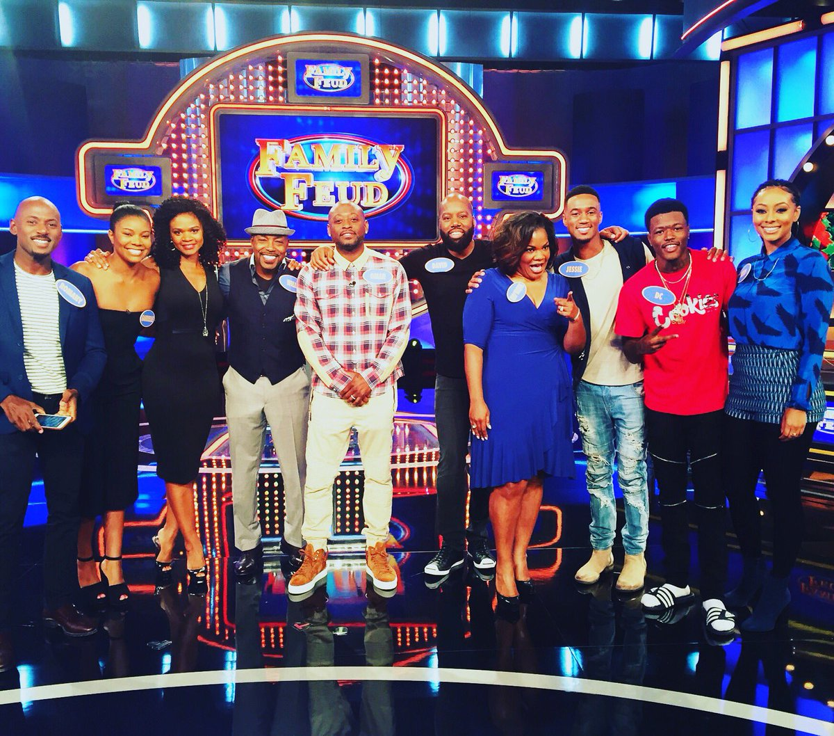 Cast From Almost Christmas.Will Packer On Twitter Shot Familyfeud Today With