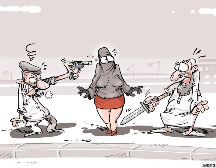 Today's cartoon by Khalid Cherradi: https://t.co/jtLMnGS5L8 #BurkiniBan https://t.co/tsLeGfwomH