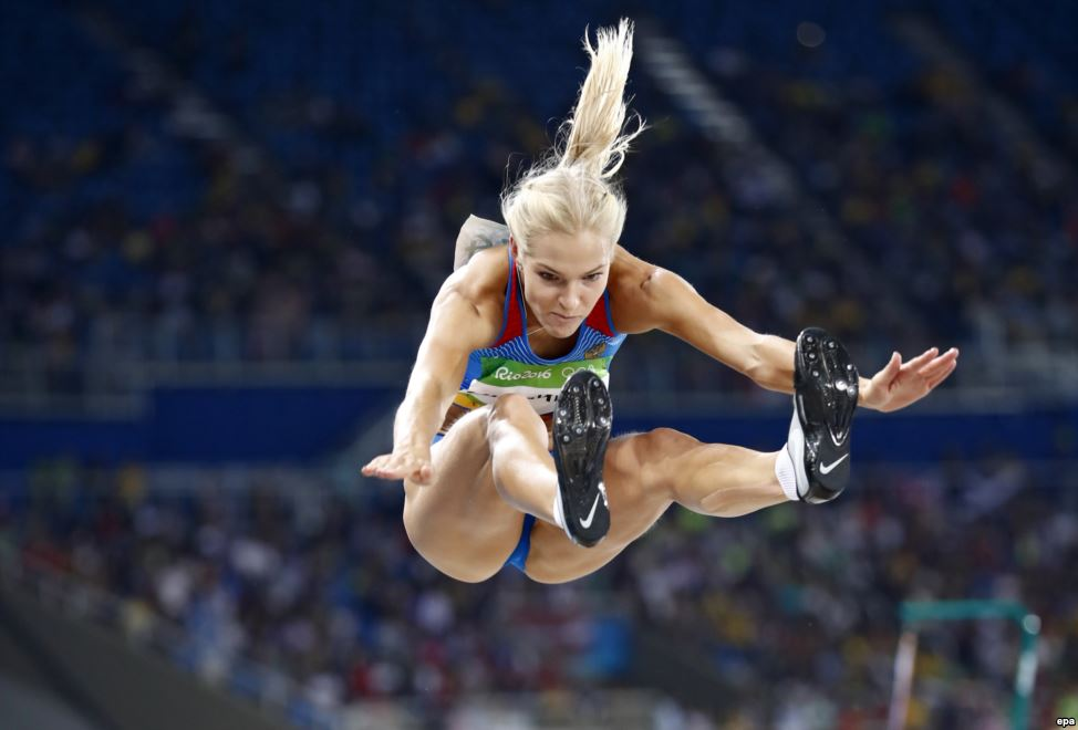 #Darya Klishina of #Russia competes in the women's long-jump qualifying round.pic.twitter.com/GJwYHaCOUP